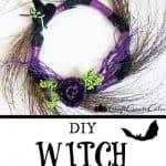 DIY Halloween Witch Wreath Decor