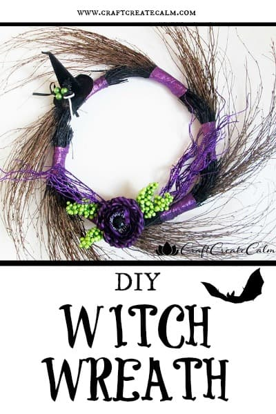 DIY Halloween Witch Wreath Decor