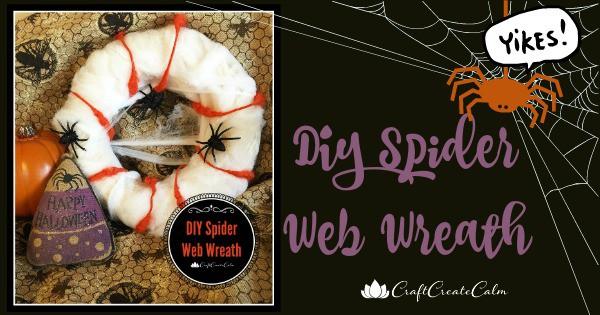 Do it Yourself Halloween Craft Spider Web Wreath