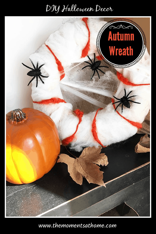 DIY Halloween Wreath. DIY Spider Wreath #halloweenwreaths