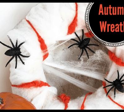 Spider Wreath DIY for Halloween