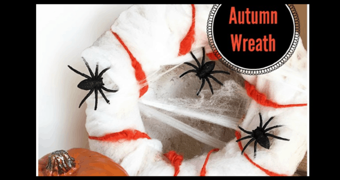 Spider Wreath DIY for Halloween
