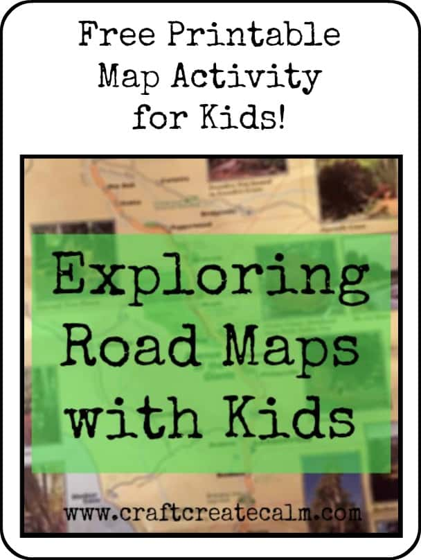 graphic relating to Printable Map for Kids titled Printable Map Game for Young children-CraftCreateCalm