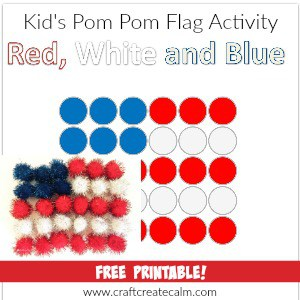 Red, White and Blue Preschool Craft