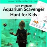 Aquarium Scavenger Hunt Free Printable for Kids