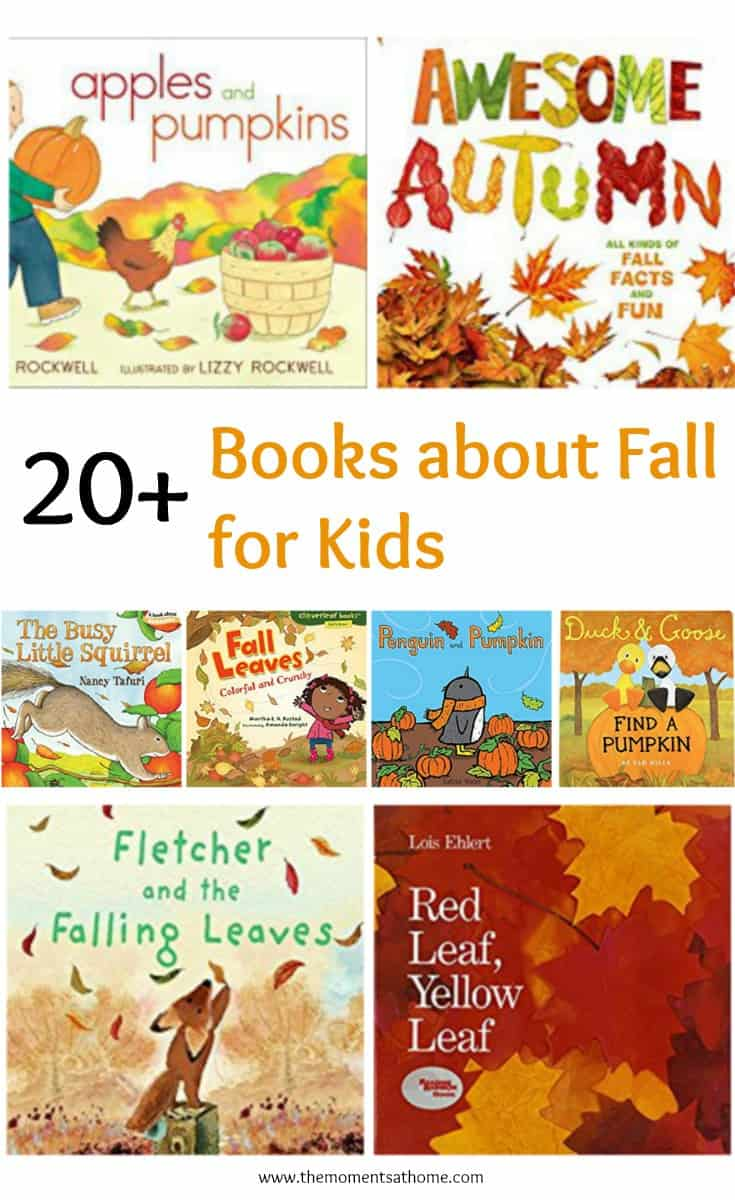 Books about fall for kids. This list includes over 20 books about fall for kids! #booksaboutfall #fall #kidsbooks