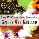 Halloween Spider Web Craft for Kids