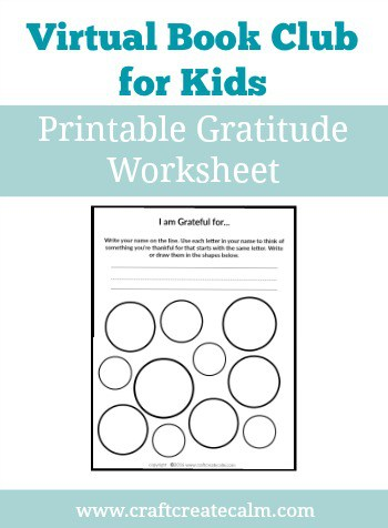 Gratitude Activity for Kids with Printable Worksheet