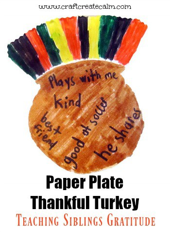 Paper Plate Thankful Turkey Craft for Kids