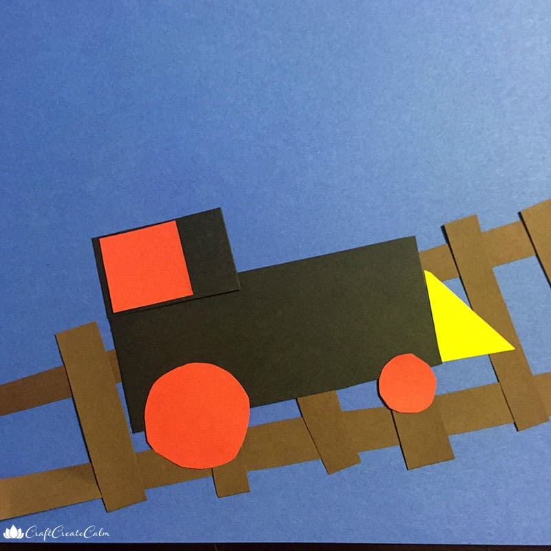 Fun Train Craft: Learning Shapes With Trains For Preschoolers