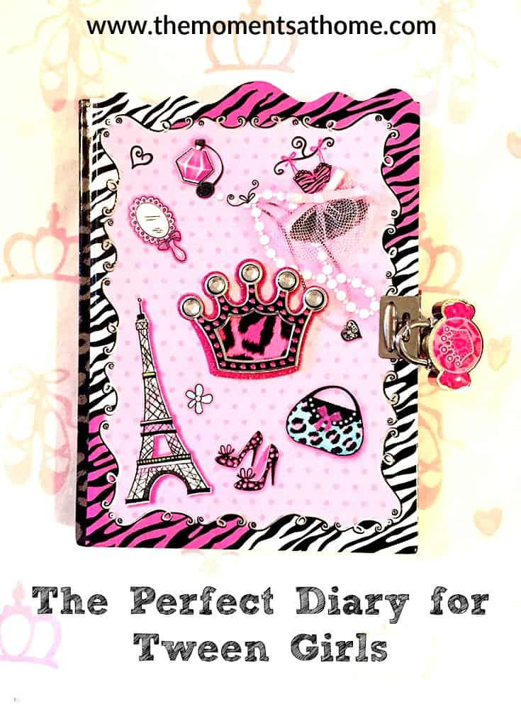 Encourage tween girls to write creatively with this cute diary.