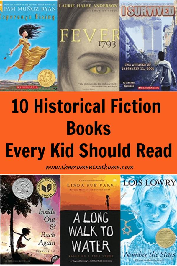 Historical fiction books for kids.