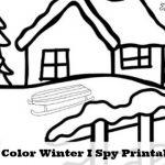 Free Winter Weather I Spy Printable