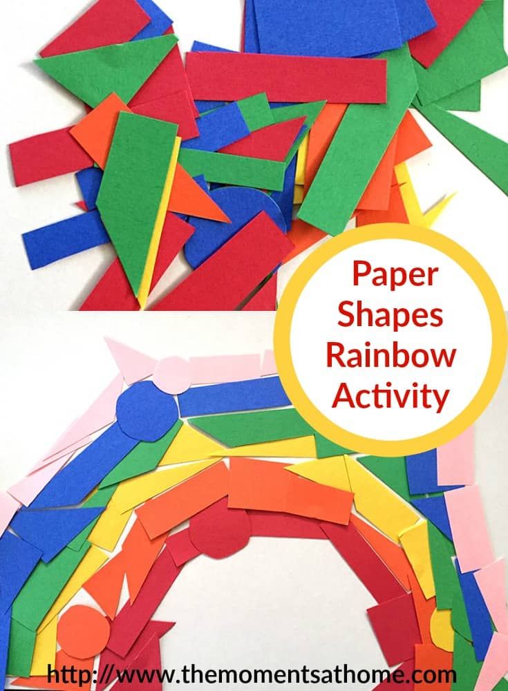 Construction Paper Shapes Rainbow Activity