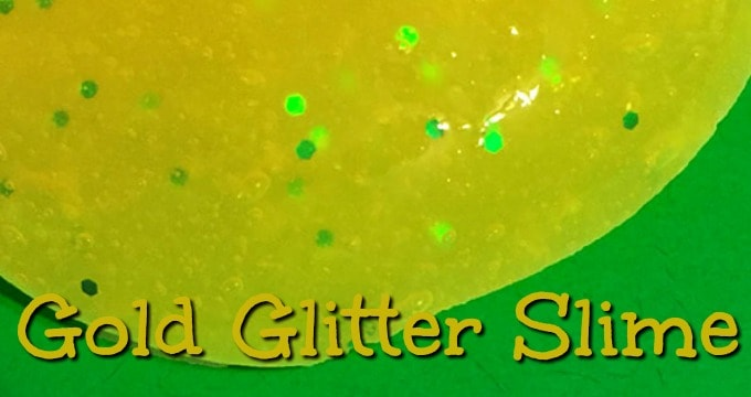 DIY Gold Glitter Slime for St. Patrick's Day