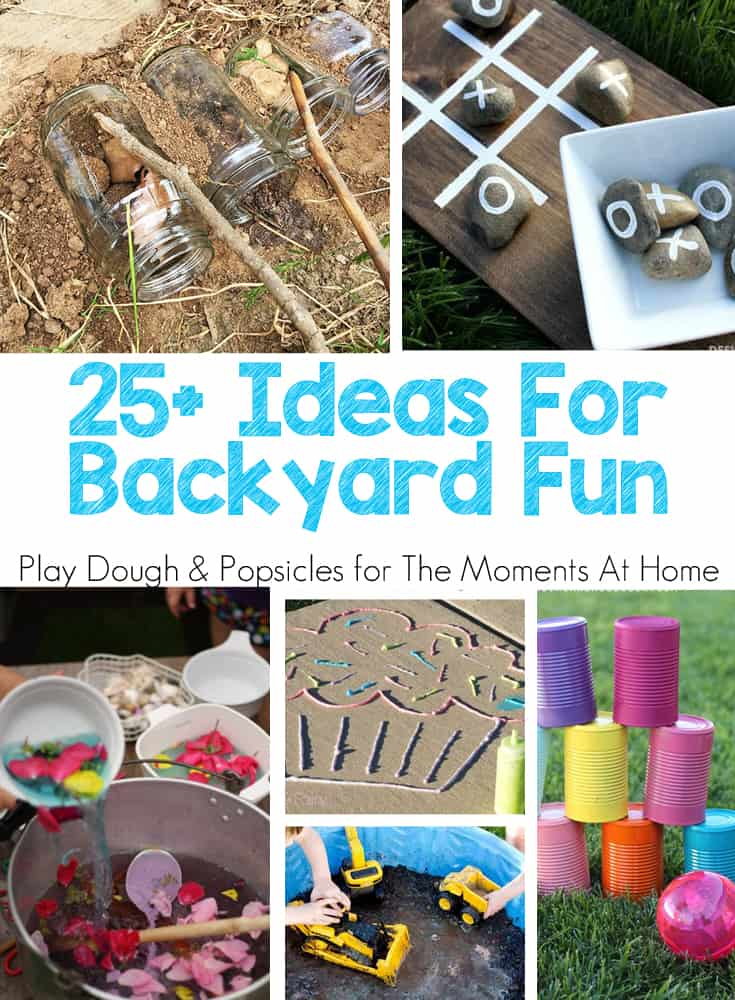 25+ Ideas For Backyard Fun For Kids: Nature Inspired, Art, Bubbles & Water, Games and More. Perfect activities for Spring & Summer!