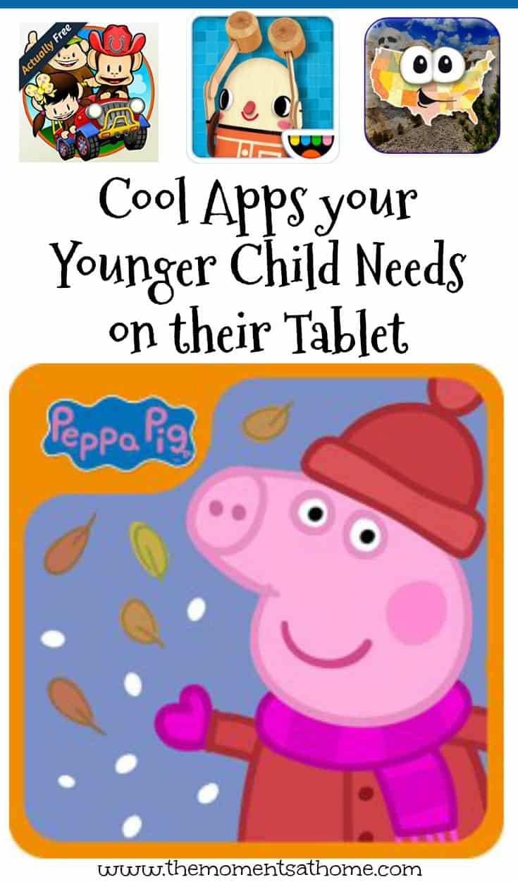 Great apps for younger kids. Add these apps toy your child's tablet for learning and playing during technology time at home.