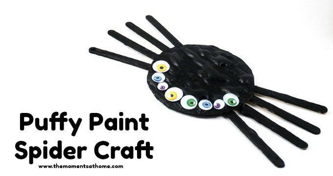 Puffy Paint Spider Craft for Preschoolers