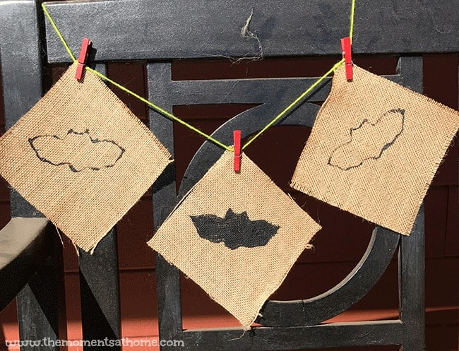 bat banner halloween craft