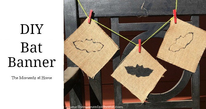 DIY Bat Banner Halloween Craft