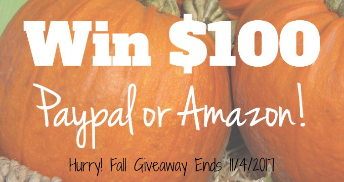 $100 Giveaway Amazon Gift Card or Paypal Cash Prize