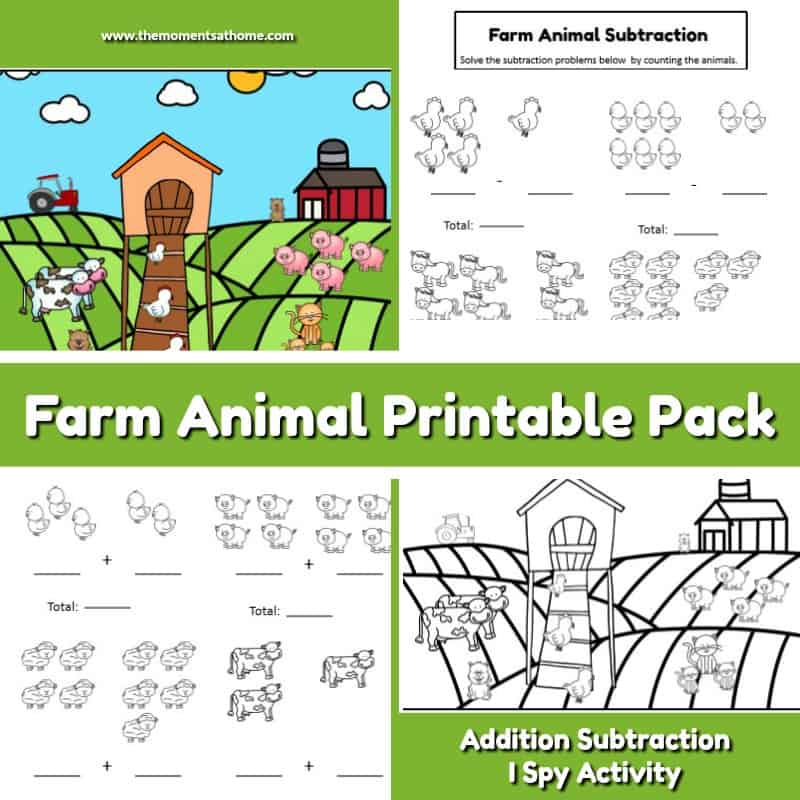 Farm math printable