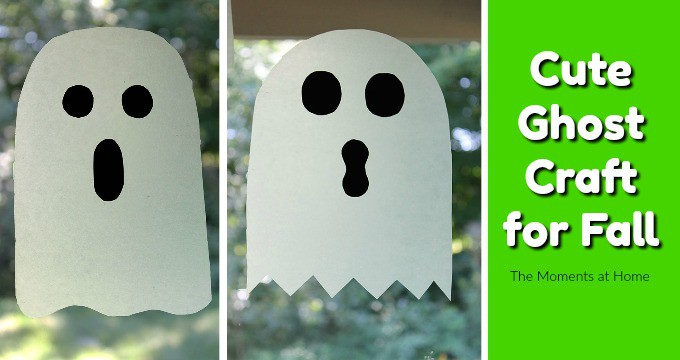 Cute Ghost Suncatcher Craft for Kids