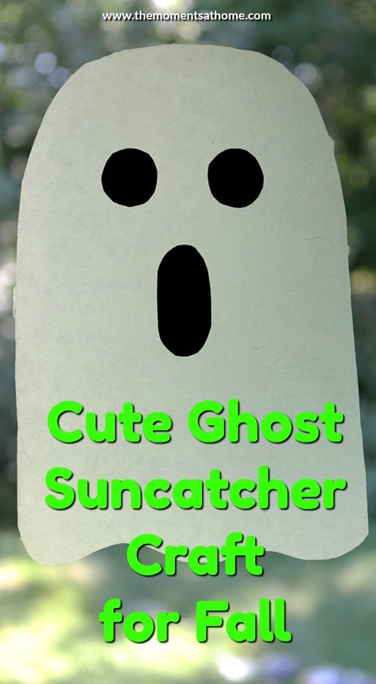 Make this cute ghost craft this fall for a not-so-scary Halloween decoration! Kids love these cute ghosts that stick to the window.