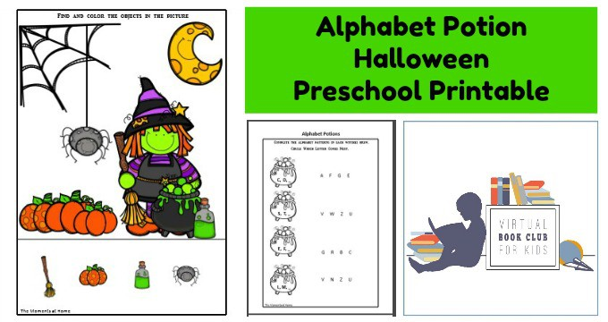 Witch Themed Halloween Alphabet Preschool Printable
