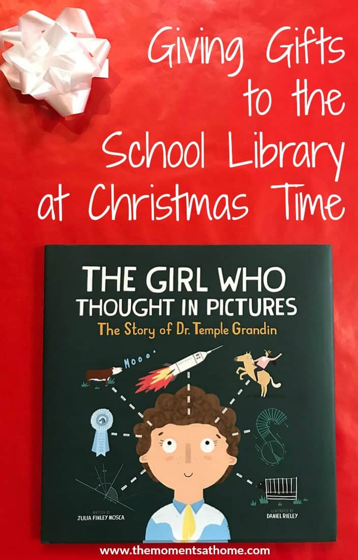 Giving a gift to your child's school library can be a good way to say thank you to the school librarian. My pick for this year's gift is The Girl Who Thought in Pictures, a science book for kids.