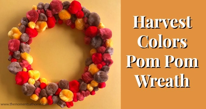 Thanksgiving Paper Plate Craft Pom-Pom Wreath