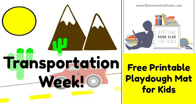Transportation Preschool Activities Printable Playdough Mat