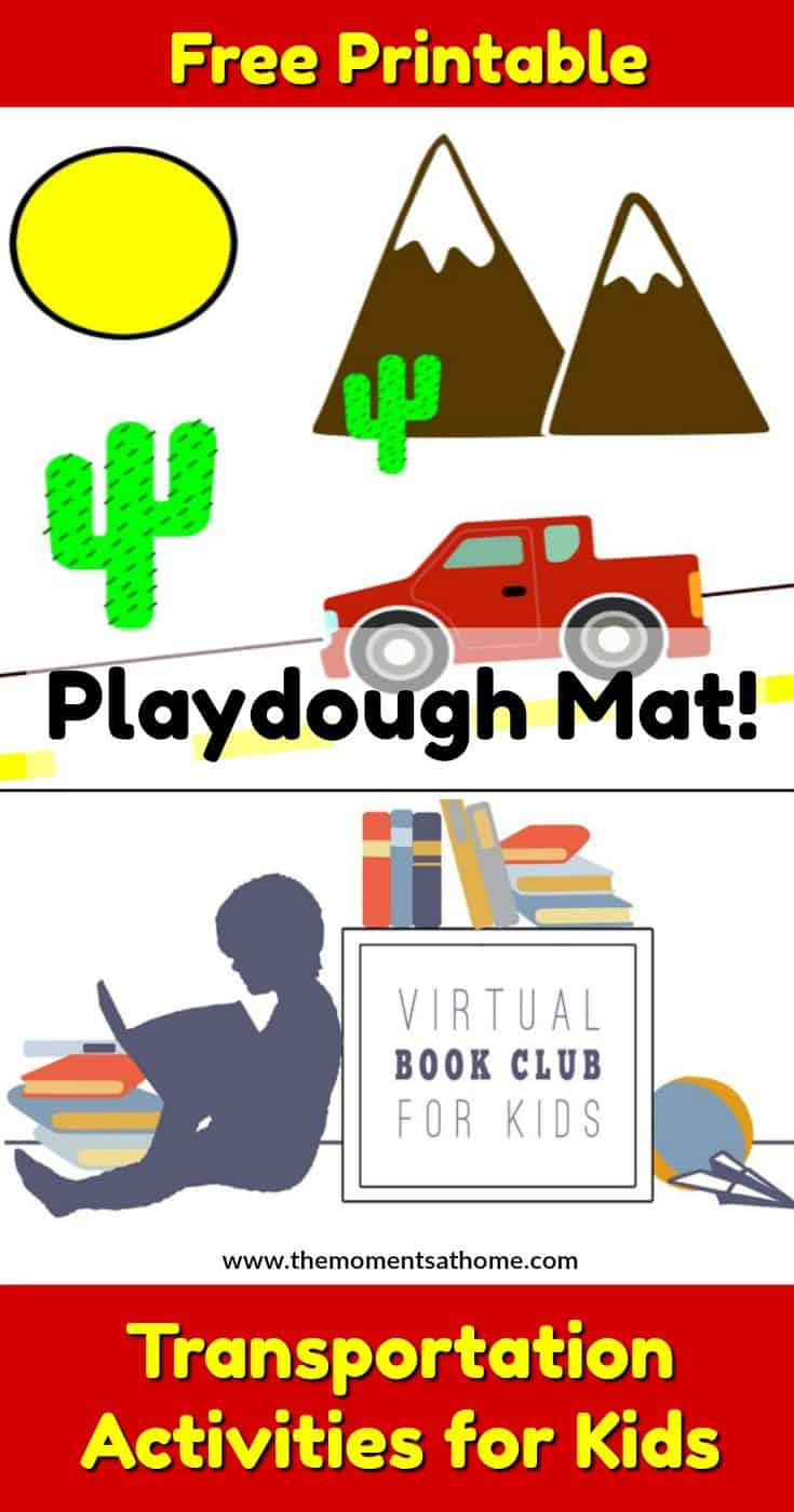 This week's book club for kids theme is transportation. Transportation printables for kids, playdough mats for preschoolers, and educational activities.