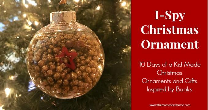I spy Christmas Ornament inspired by a book. Christmas i spy.