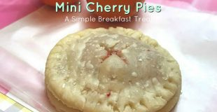 Pretty Mini Cherry Pies for Valentine's Day