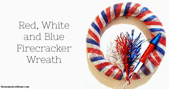 DIY Red, White and Blue Wreath for 4th of July