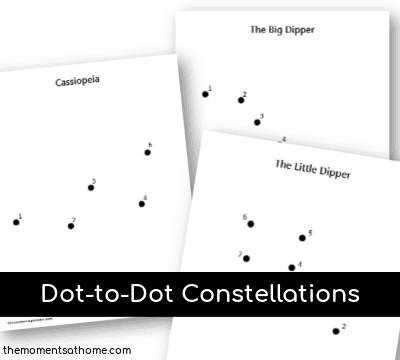 Dot-to-Dot Printables Constellations for Kids