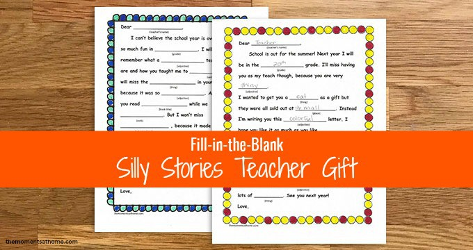 printable teacher's gift