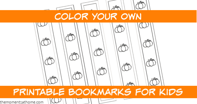 Pumpkin Printable Bookmarks for Kids {FREE}