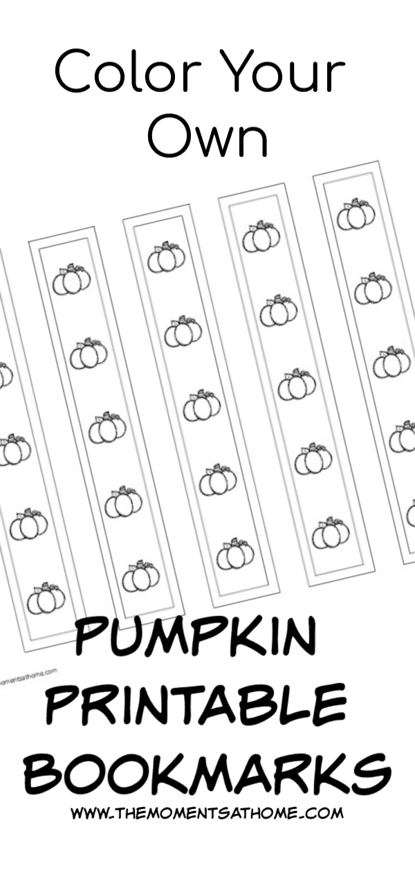 Printable bookmarks for kids. Pumpkin printable for kids.
