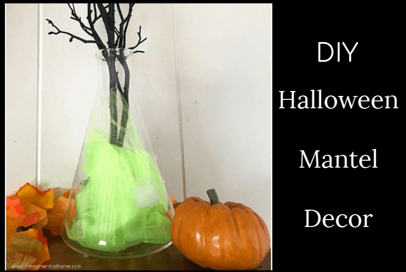 Halloween Mantel Decorations Beaker Vase Craft