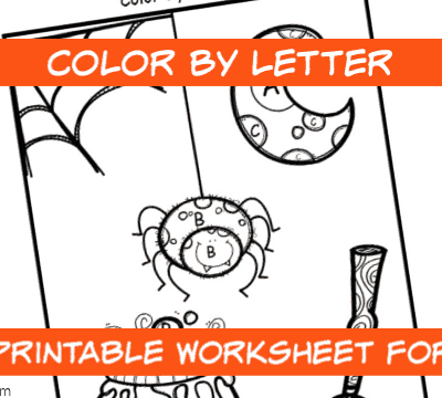 Halloween Color By Letter Printable Worksheet