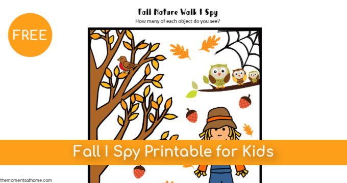 Fall I Spy Printable for Kids {Free}