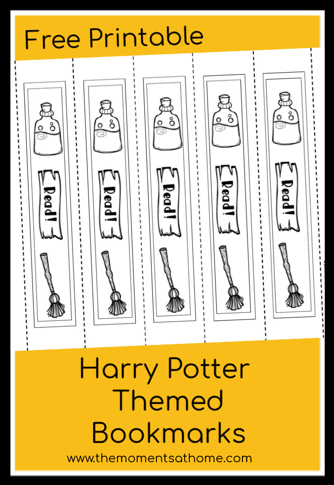 Harry Potter Printable Bookmarks Inspired by the Books - The Moments