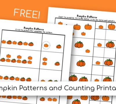 Pumpkin Math Patterns Printable Worksheets