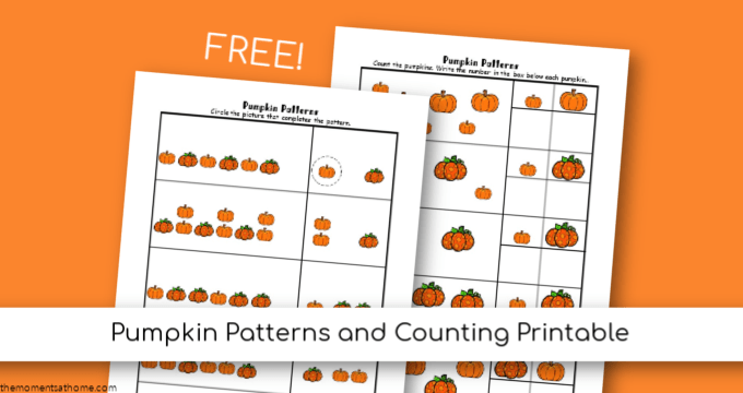 pumpkin math patterns printable worksheets