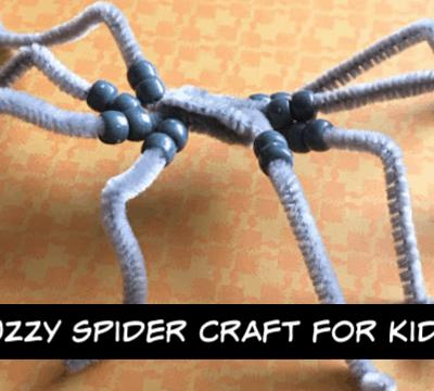 Fuzzy Spider Craft for Kids