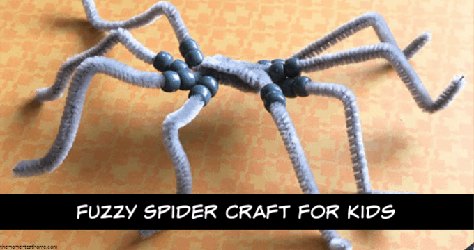 Fuzzy Spider Craft for Kids