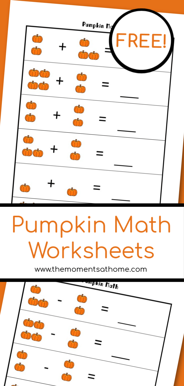 Pumpkin Math Printable Worksheets For Kids The Moments At Home