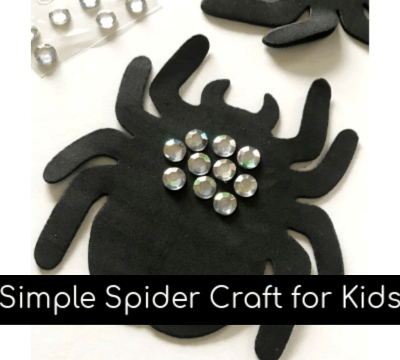 Simple Gemstone Spider Craft for Kids